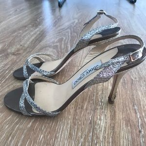 Jimmy Choo Shoes - Jimmy Choo Metallic Sandal, size 8